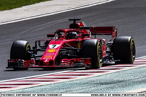 Branding for Ferrari, 2018 Hungaroring, (Test 4), Test Day 2 - Part 1. Image © Ferrari - 1st Aug 2018 - www.f1reports.com