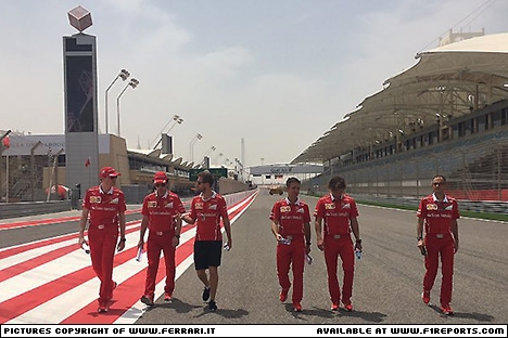 Branding for Ferrari, 2017 Bahrain Grand Prix, Friday. Part 1 Image © Ferrari - 14th Apr 2017 - www.f1reports.com