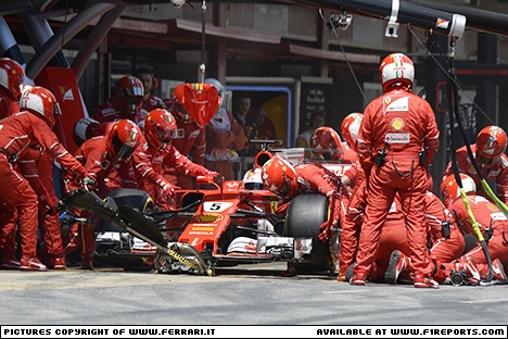 Branding for Ferrari, 2017 Spanish Grand Prix, Sunday. Part 2 Image © Ferrari - 15th May 2017 - www.f1reports.com