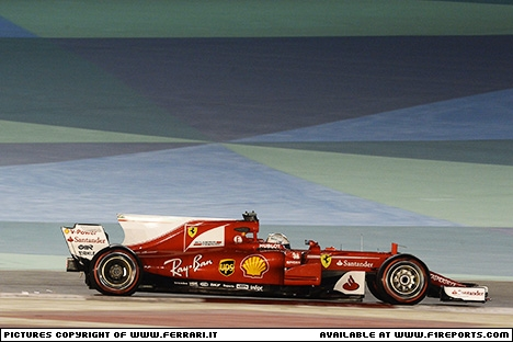Branding for Ferrari, 2017 Bahrain Grand Prix, Sunday. Part 1 Image © Ferrari - 16th Apr 2017 - www.f1reports.com