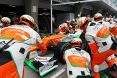 Branding for Force India F1, 2012 Chinese GP, Sunday. Image © Force India - 15th Apr 2012 - www.f1reports.com