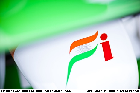 Branding for Force India F1, 2012 Monaco Grand Prix, Wednesday. Image © Force India - 23rd May 2012 - www.f1reports.com