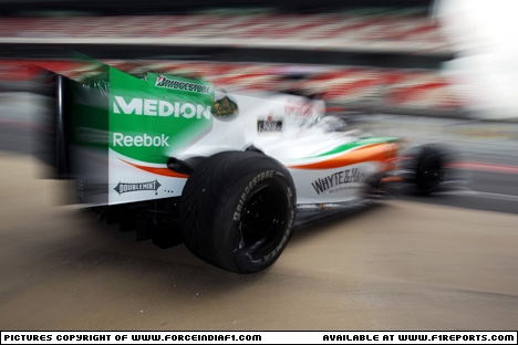 Branding for Force India F1, The New Car - VJM03 Image © Force India - 27th Feb 2010 - www.f1reports.com