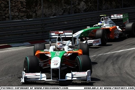 Branding for Force India F1, Monaco GP Image © Force India - 28th May 2009 - www.f1reports.com