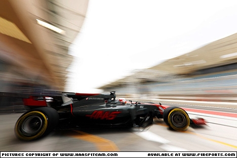Branding for Haas F1, 2017 Sakhir, (Test 3), Test Day 2. Image © Haas F1 Team - 19th Apr 2017 - www.f1reports.com