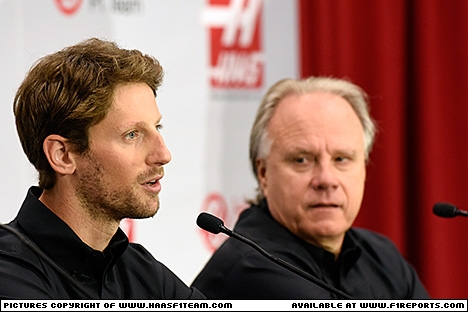 Branding for Haas F1, 2015 Romain Grosjean signed for 2016. Image © Haas F1 Team - 29th Sep 2015 - www.f1reports.com