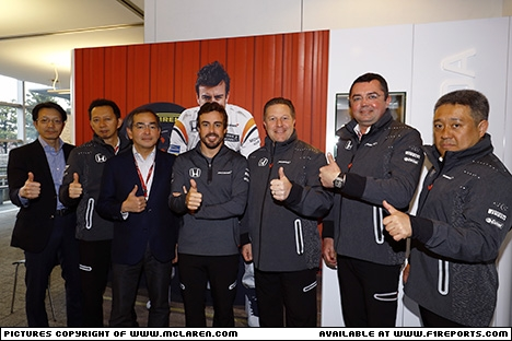 Branding for McLaren F1, 2017 Fernando Alonso for The Indianapolis 500 Image © McLaren - 12th Apr 2017 - www.f1reports.com