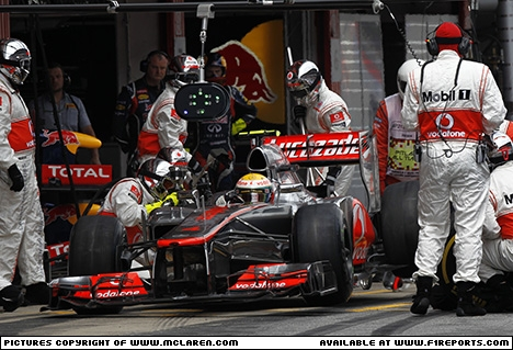 Branding for McLaren F1, 2012 Spanish Grand Prix, Sunday. Image © McLaren - 15th May 2012 - www.f1reports.com