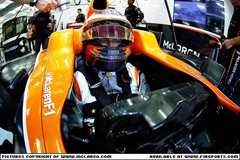 Branding for McLaren F1, 2017 Bahrain Grand Prix, Sunday. Part 1 Image © McLaren - 16th Apr 2017 - www.f1reports.com
