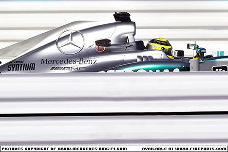 Branding for Mercedes AMG F1, 2013 Japanese Grand Prix, Saturday. Image © Mercedes AMG F1 - 12th Oct 2013 - www.f1reports.com