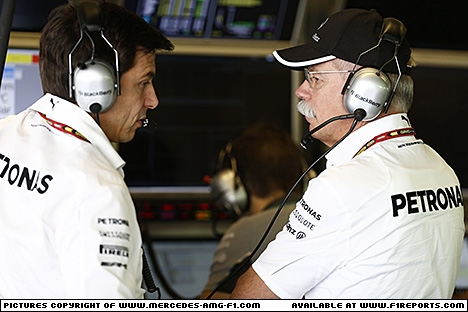 Branding for Mercedes AMG F1, 2014 Abu Dhabi Grand Prix, Saturday. Image © Mercedes AMG F1 - 23rd Nov 2014 - www.f1reports.com