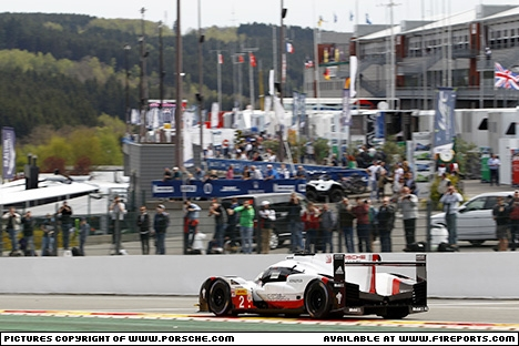 Branding for Porsche, WEC 2017 - Spa-Francorchamps/Belgium. Saturday. Image © Porsche - 7th May 2017 - www.f1reports.com