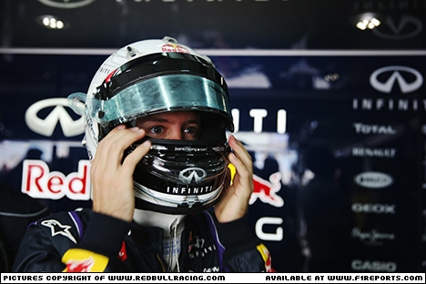 Branding for Red Bull Racing, 2013 Bahrain Grand Prix, Saturday. Image © Red Bull Racing - 20th Apr 2013 - www.f1reports.com