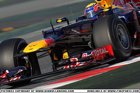 Branding for Red Bull Racing, 2012 Barcelona, Test Day 3. Image © Red Bull Racing - 23rd Feb 2012 - www.f1reports.com