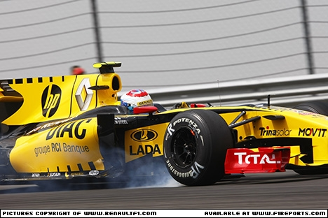 Branding for Renault F1, 2010 Turkish Grand Prix. Image © Renault - 31st May 2010 - www.f1reports.com