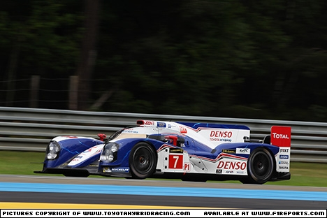 Branding for Toyota, Le Mans 2013 Qualifying. Image © Toyota F1 - 20th Jun 2013 - www.f1reports.com