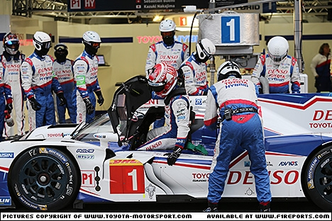 Branding for Toyota, WEC 2015 - Fuji, Friday. Image © Toyota TMS - 10th Oct 2015 - www.f1reports.com