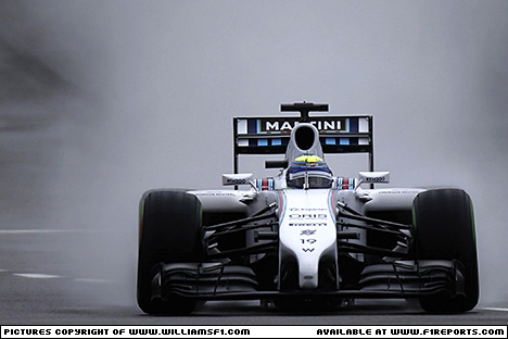 Branding for Williams F1, 2014 British Grand Prix, Saturday. Image © Williams - 6th Jul 2014 - www.f1reports.com