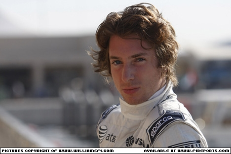 Branding for Williams F1, 2011 Young Driver Test, Abu Dhabi. Image © Williams - 16th Nov 2011 - www.f1reports.com