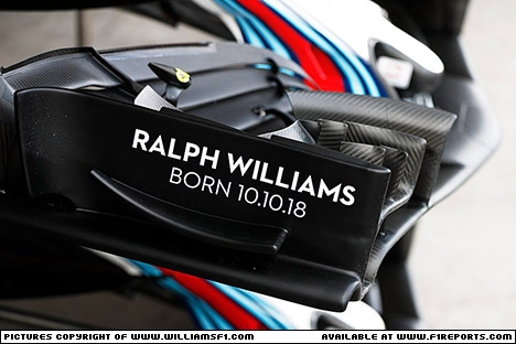 Branding for Williams F1, Mexican Grand Prix, Sunday, Part 1 Image © Williams - 29th Oct 2018 - www.f1reports.com