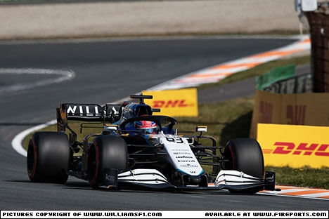 Branding for Williams Racing, Dutch Grand Prix, Friday, Part 1 Image © Williams - 4th Sep 2021 - www.f1reports.com